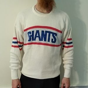 Vintage New York Giants football knit sweater. Lrg